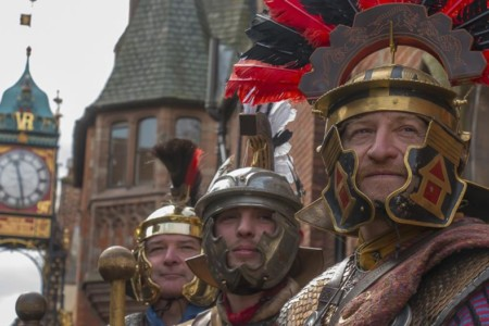 roman centurions by the chester walls
